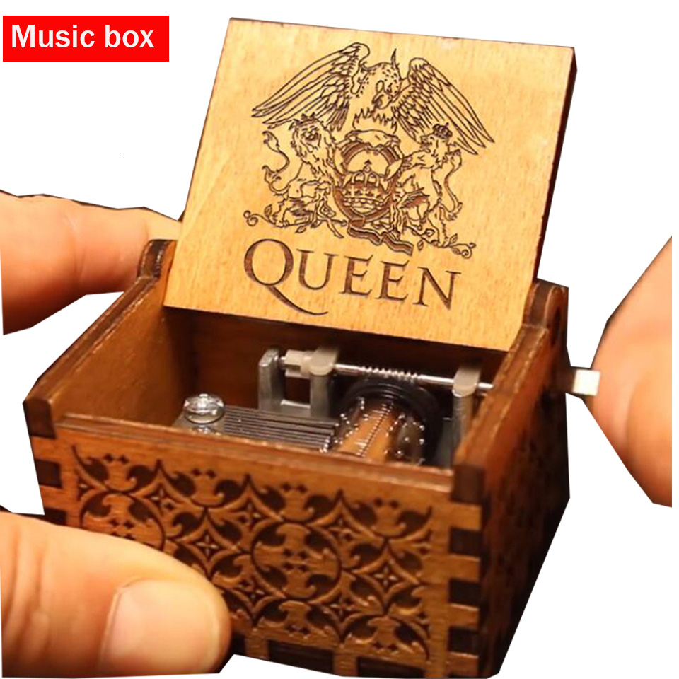 Hot Queen Music Box Wooden Carving Hand Crafted Star Wars Music Box Game Of Throne Birthday Christmas Gift For friend image