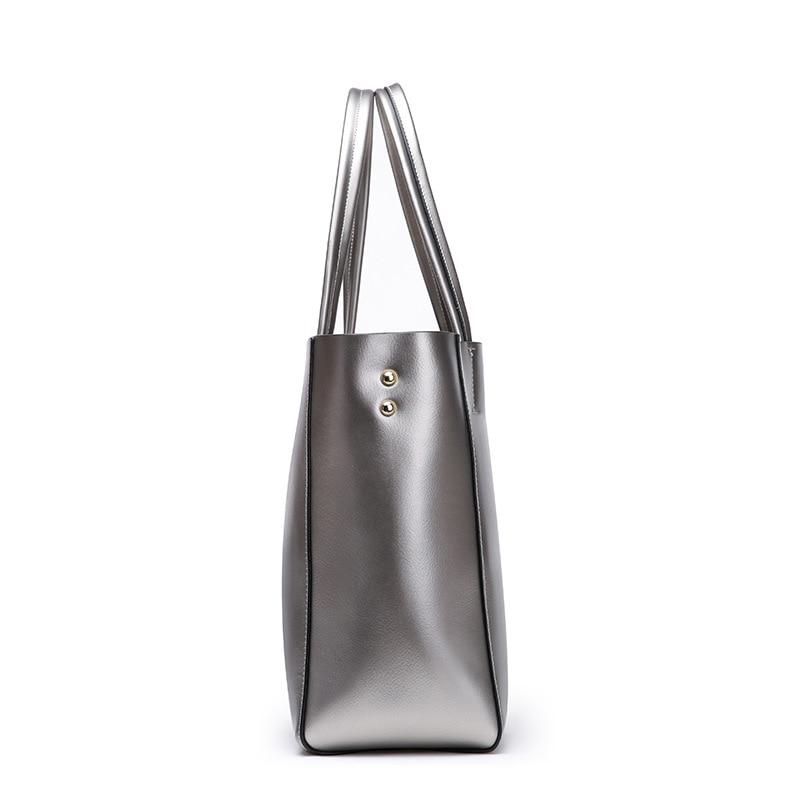 Nuove donne Europee e Americane borse in pelle di moda sacchetto di spalla di cuoio 2019 delle signore di grande capacità shopping bag - 5
