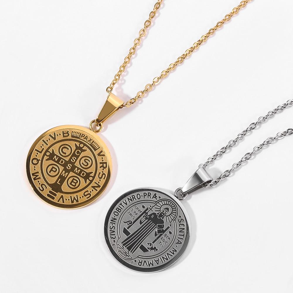 Классическое ожерелье с подвеской женское и мужское, ожерелье из нержавеющей стали с крестом из Библии, христианские религиозные украшения
