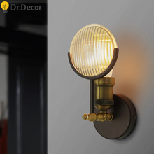 Nordic Industrial Decor Wall Lamp Vintage Gold LED Wall Light Living Room Stair Aisle Bedside Lamp Vanity Mirror Lights Fixtures