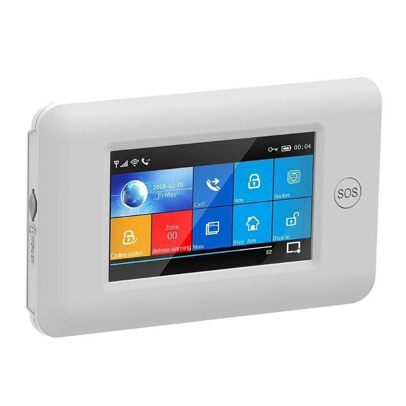 1Set Wireless Home Sicherheit WIFI GSM GPRS Alarm System APP Fernbedienung RFID Karte Arm Entwaffnen Kit mit Bunten bildschirm