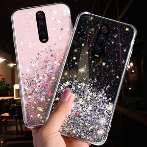 Bling Glitter Case For Xiaomi Mi CC9 CC9E 9T 9 SE 8 A3 A2 Lite Case For Xiaomi Redmi K20 7A 6 Note 8 7 5 Pro 4 4X Soft TPU Cover
