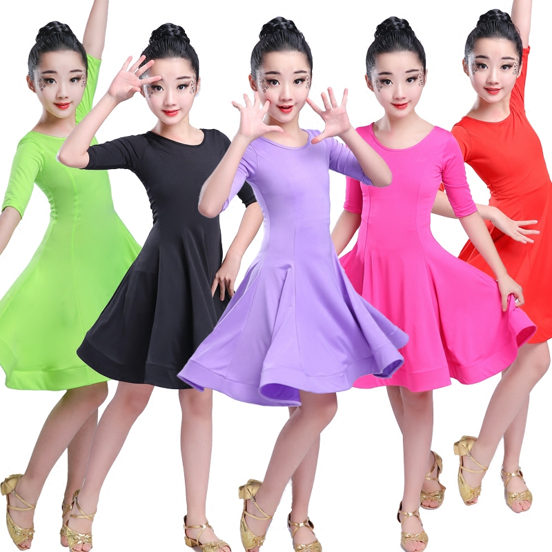 Girls Carnival Jazz Dancewear Costume Kids Modern Latin Ballroom Party Dancing Dress Child Dancing Dress Wear Clothes For Girls