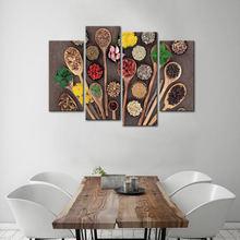 Боковая посуда и специи домашний декор современный постер 4