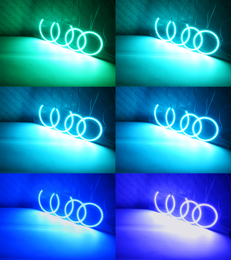 Image 4 - RF remote Bluetooth APP Multi Color RGB led angel eyes For BMW  E66 E65 Facelift 745i 750I 760i 750Li 760Li 2006 2007 2008led angelrgb  led angel eyesled angel eyes