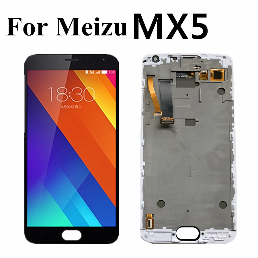 5.5'' For <font><b>Meizu</b></font> <font><b>MX5</b></font> <font><b>LCD</b></font> <font><b>Display</b></font> <font><b>Touch</b></font> <font><b>Screen</b></font> Digitizer Assembly Replacement <font><b>Touch</b></font> Panel For <font><b>meizu</b></font> <font><b>mx5</b></font> MX 5 <font><b>lcd</b></font> with frame image