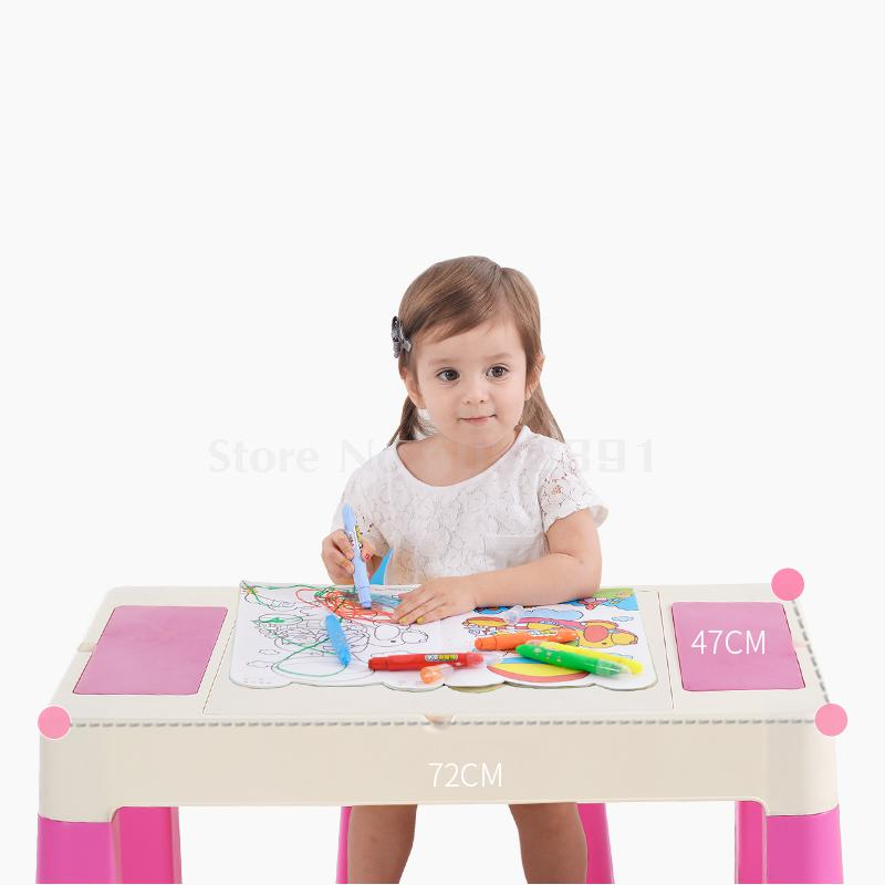 Game table toy table kindergarten children table and chair set baby multi-function plastic writing study table Herbal Products