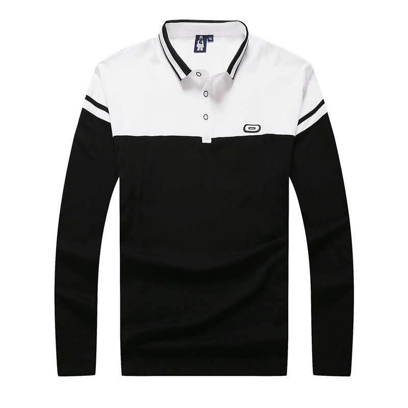 8XL 7XL 6XL Marke T Shirt Männer Lange T-shirt drehen-unten Streifen Designer T-shirt Slim Fit Lose Beiläufige Baumwolle T Hemd Männlich Plus Größe
