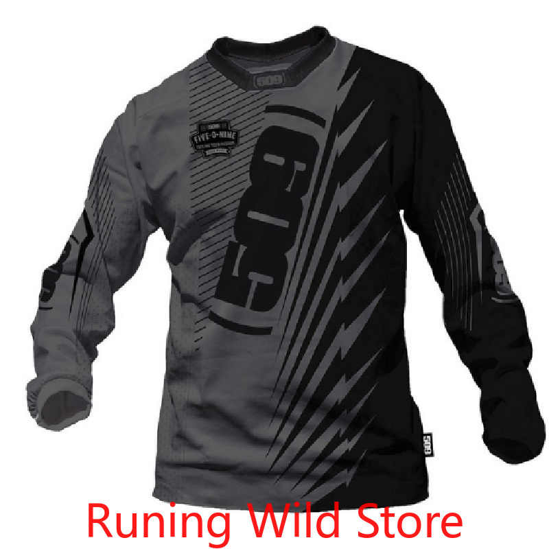 2020 new men's racing Jersey long-sleeved Jersey bicycle mountain bike DH downhill shirt breathable and quick-drying men's cloth