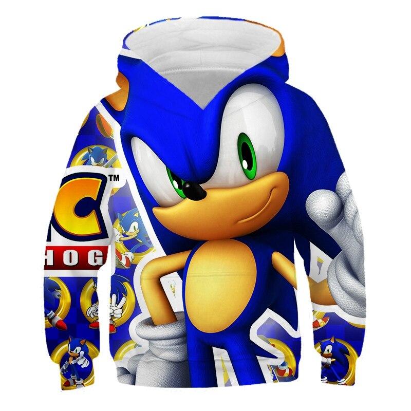 Enfants 2020 adulte parent-enfant vêtements 3D garçons filles Mario Super sonic sonic sweat à capuche imprimé Costume enfants vêtements bébé rue