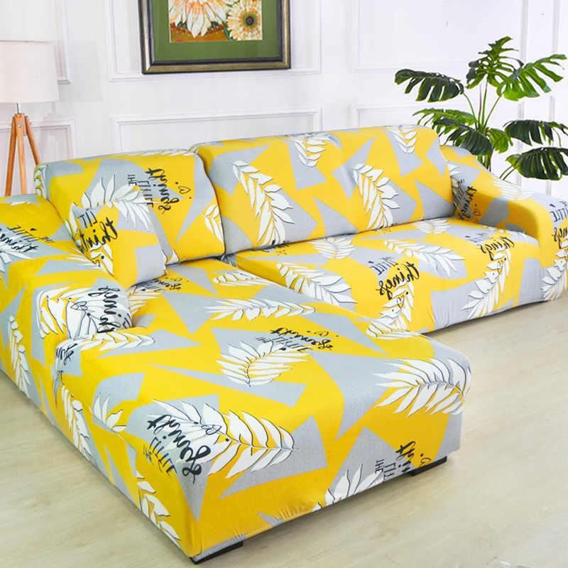 Superb L Shape Chase Long Geometric Printed Spandex Sofa Covers For Inzonedesignstudio Interior Chair Design Inzonedesignstudiocom