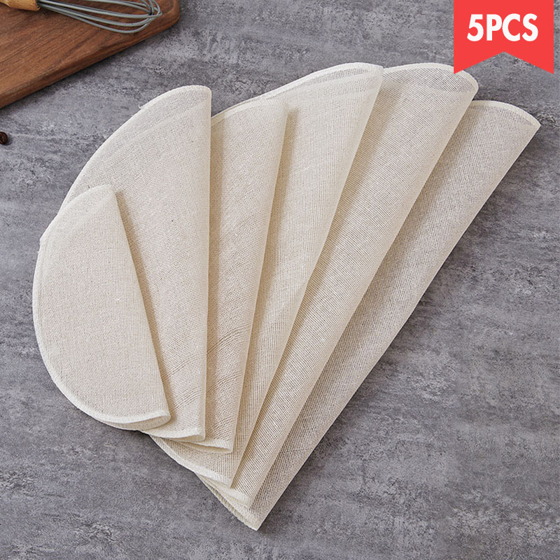 No Sticky Steamer Cloth Circle Cotton Gauze Food Steaming Cloth Steamed Buns Bread Cloth Coaster Filter Dumplings Cloth