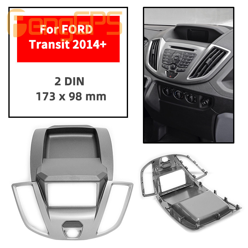 11-770 Car Audio Panel Frame For FORD Transit 2014+ Sandero Stereo Fascia Dash CD Trim Installation Kit Facial Frame