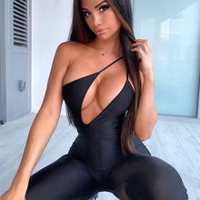 Sexy Womens Jumpsuit Hollow Out Rompers Fitness Sportswear Strap Sleeveless Summ