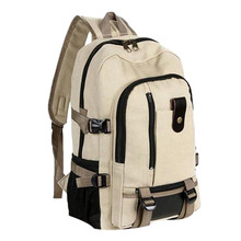 Large Capacity Rucksack Man Travel Bag Mountaineering Backpack Male Luggage Canv