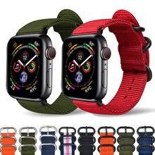 Ремешок нейлоновый для apple watch band 44 мм 40 браслет iwatch
