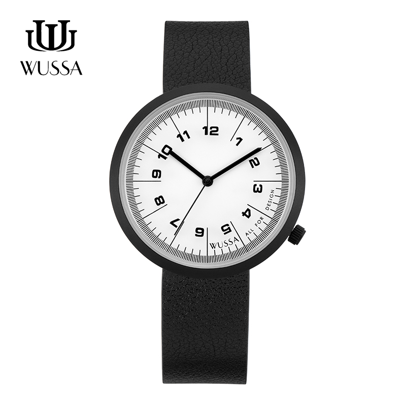 WUSSA  Simple Neutral Quartz Couple Watch
