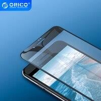 ORICO-Protector de pantalla de vidrio templado para iphone, Protector de pantalla de vidrio templado para iphone 6, 6S, 7, 8 Plus, antiluz azul, película templada curvada 3D, antiespía para privacidad