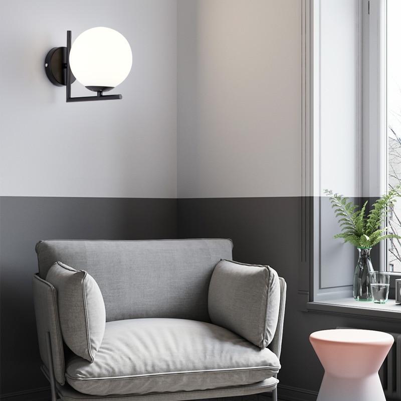 Luminária de parede led minimalista, luminária de