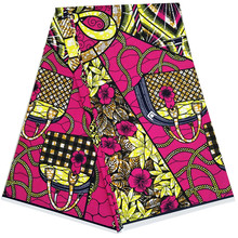 New dutch wax ankara African prints fabric pure cotton 6 yards 100%