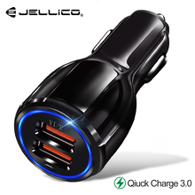 Jellico Quick Car Charger QC3.0 2.0 Fast Charging Cable For Samsung Xiaomi Huawei Charge 3.0 Adapter Tablet Car-Charger