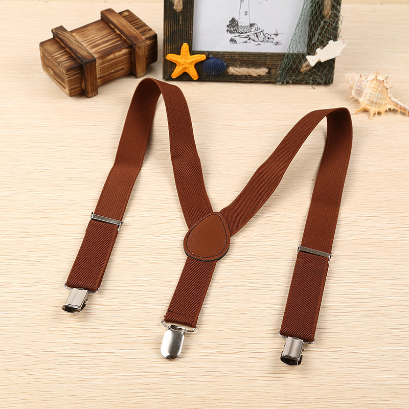 High Quality Elasticity 2.5 Elastic Band Suspender Strap Clip Exquisite Candy Color CHILDREN'S Shoulder Strap High Quality Hardw