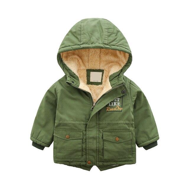 Coton enfants garçon fermeture éclair chemise hiver nouveau petites et moyennes enfants lettre broderie avec épaissi