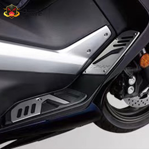 Image 4 - NEUE Für YAMAHA Tmax 530 sx dx 2017  2020 2018 tmax 560 tech max 2019 2020 Motorrad CNC fußstütze fuß rest pad matte fußteil