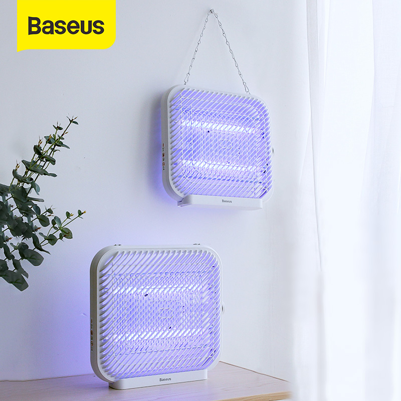 BASEUS LED Mosquito Killer Lamp USB Powered UV Light Electric Insect Killer Lamp Bug Zapper Repellent Insect Trap Light For Home
