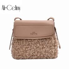 Брендовая Оригинальная дизайнерская ручная плюшевая маленькая сумка, женская сумка, новинка, Корейская Повседневная универсальная сумка-мессенджер, модная сумочка