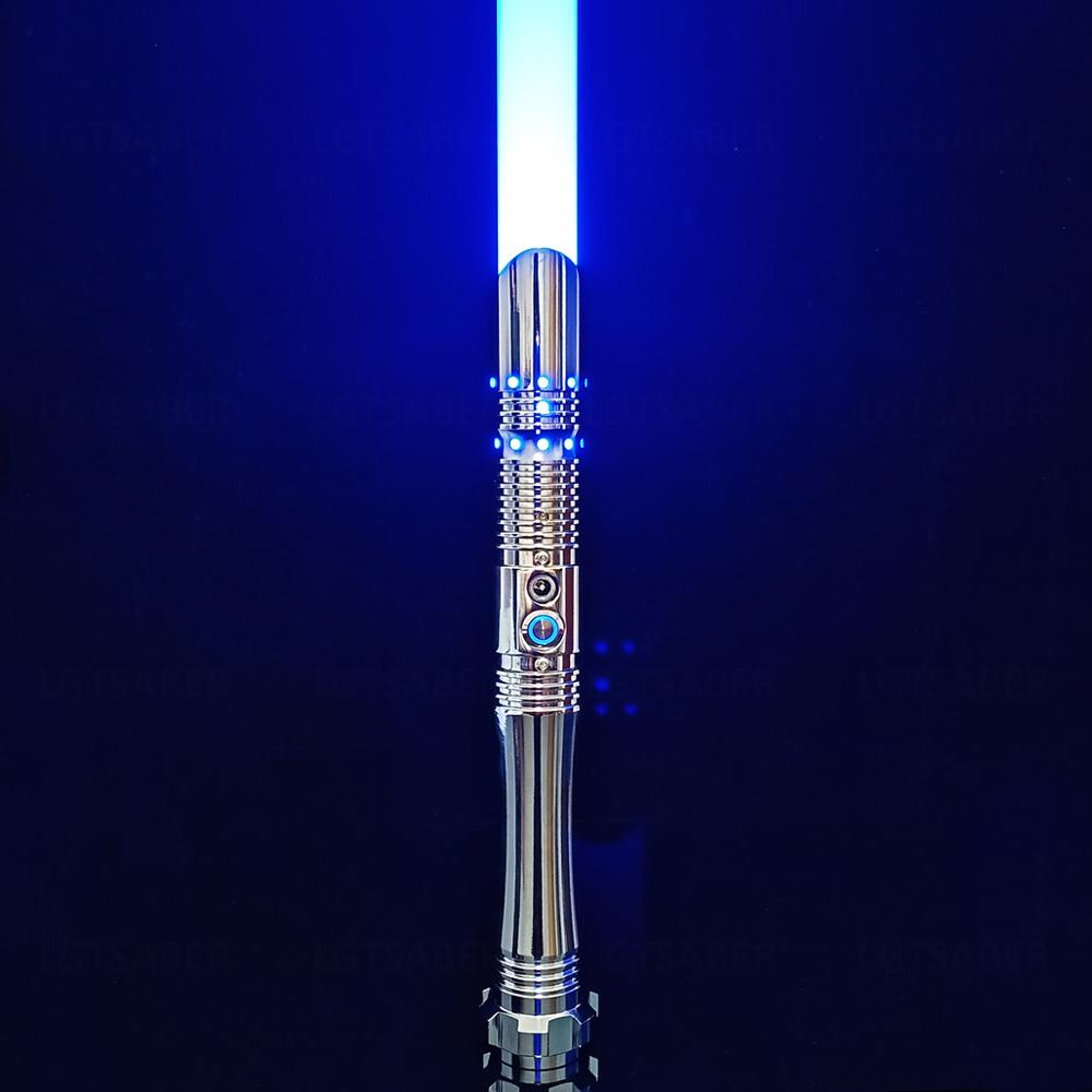 LGTOY Electroplating Lightsaber Flash On Clash 2mm Dueling Blade Rechargeable Color Changing Six Set Sound Christmas New