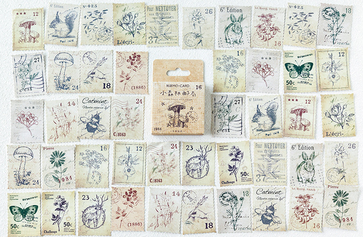 Forest Place Diy Decorative Stickers(1pack=46pieces)