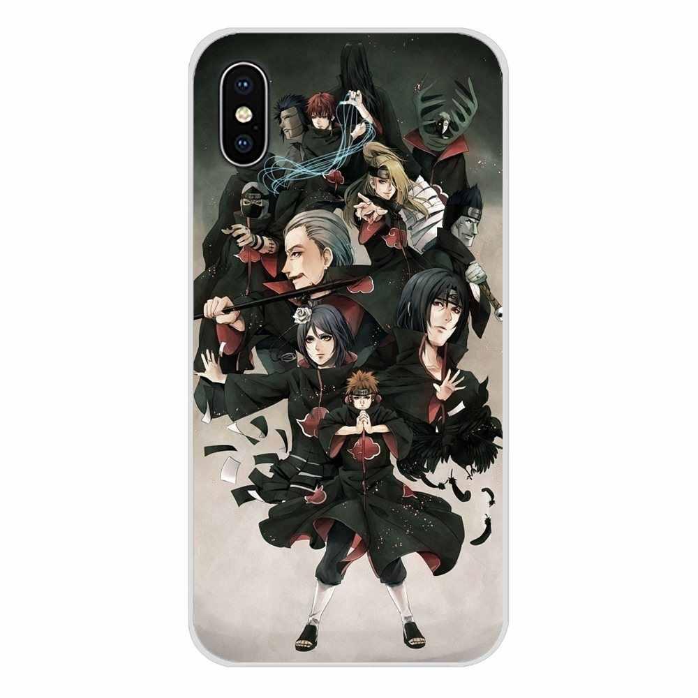 Huawei Y5 Y6 Y7 Y9 başbakan Pro GR3 GR5 2017 2018 2019 Y3II Y5II Y6II aksesuarları telefon kabuk kapakları anime Naruto Akatsuki