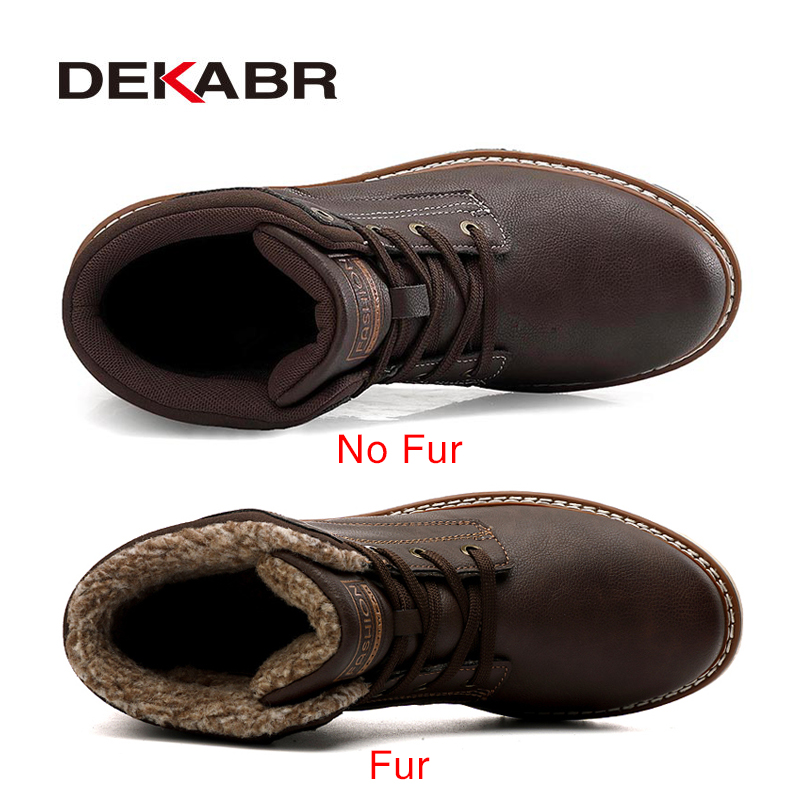 DEKABR 2021 New Snow Boots Protective and Wear-resistant Sole Man Boots Warm and Comfortable Winter Walking Boots Big Size 39-46 2