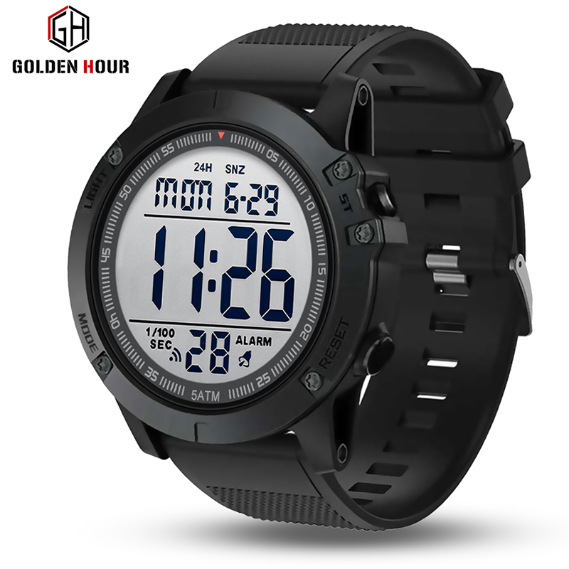 GOLDENHGOUR Mens Watch Military Waterproof Sport Wristwatch Digital Watches For Men Fashion Outdoor Male Clock Relogio Masculino