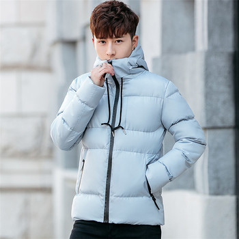 Moutainskin 2020 Winter New Coats Solid Color Hooded Cotton Jackets Male Casual Fashion Warm Jacket Men Brand Clothing J6T745