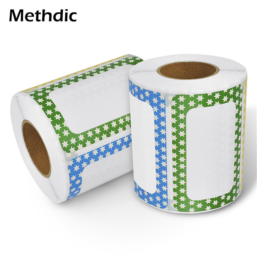 Personalized 500 Labels/roll Self Adhesive Name Tag Sticker Roll For Student