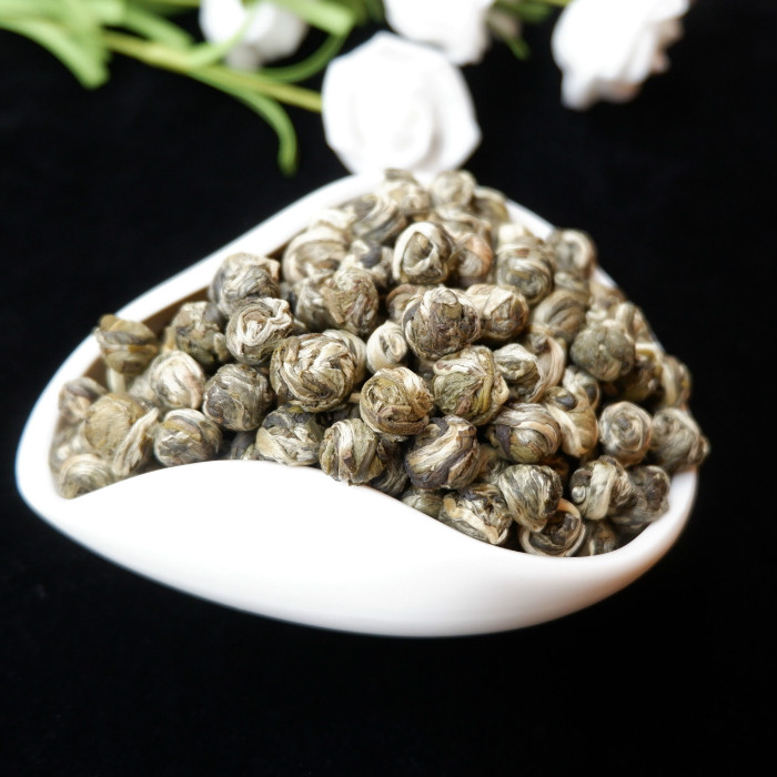 Organic Jasmine Flower Tea 2019 Year Jasmine Pearls Natural Fresh Jasmine Dragon Balls The Health Care Green Tea