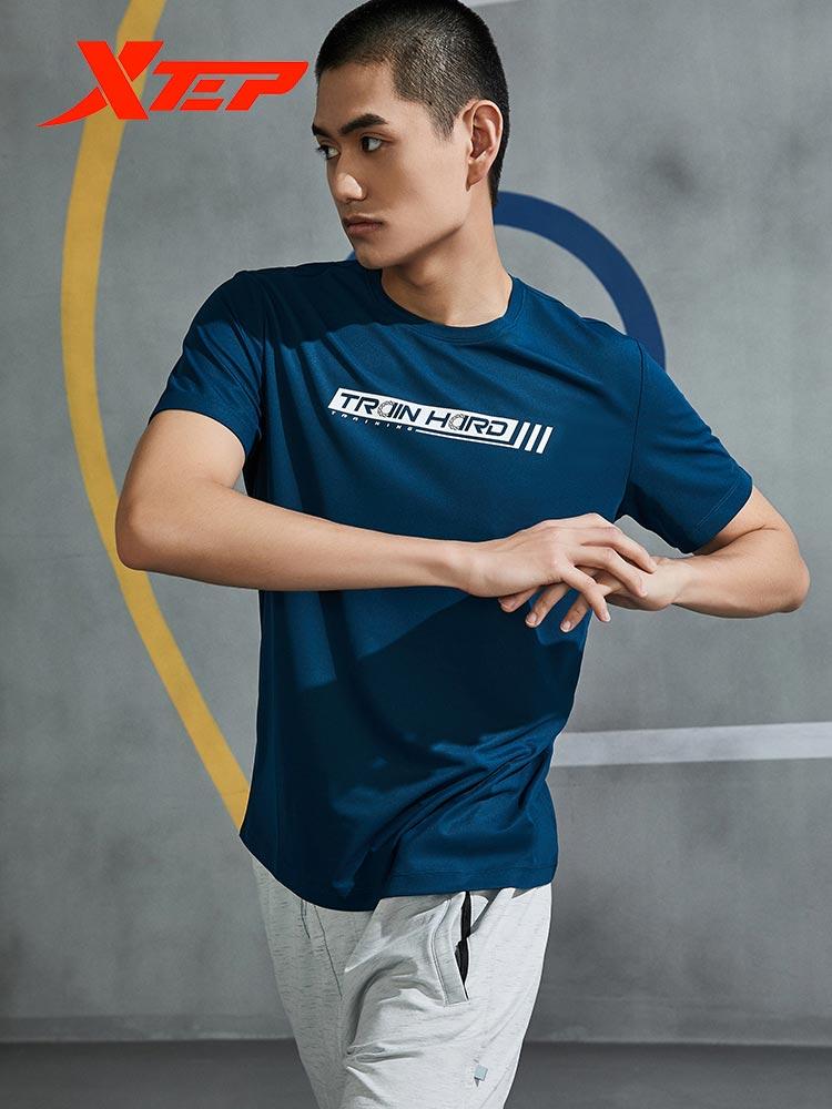 Xtep Short-sleeved T-shirt Men s Summer New Illustration Shirt Casual Men s T-shirt Sports 880229010105