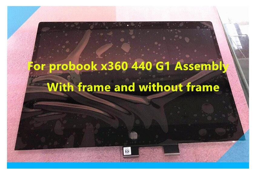 For HP Probook X360 440 G1 LCD Assembly LP140WF8-SPR1 LP140WF8 Framed And Frameless