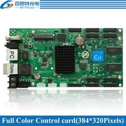 HD-C15 (HD-C10) USB + 2 puertos Ethernet (se puede conectar Tarjeta receptora) tarjeta de control de pantalla LED asíncrono a todo Color