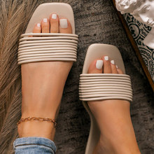 2021 sandalias de verano para las mujeres plano abierto del dedo del pie al aire libre damas zapatillas de moda de interior al aire libre playa Flip-flops de talla grande 43