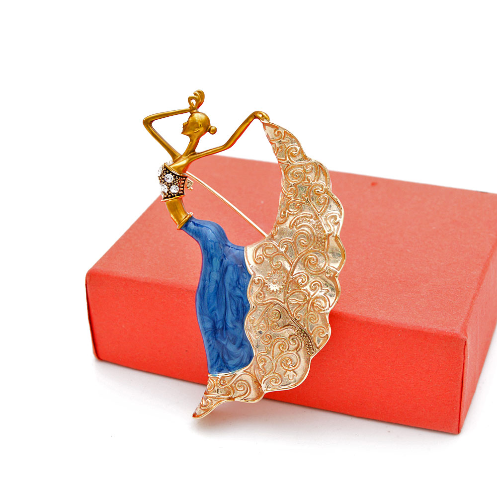Cindy Xiang Enamel Dancing Girl Brooch Pin New Design