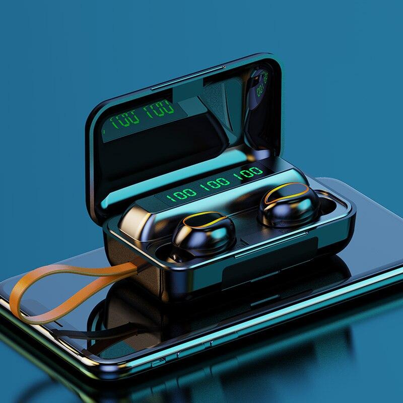 NBX Mini TWS Bluetooth 5 0 Earphones Charging Box Wireless Headphone 9D Stereo Sports Waterproof Earbud Headsets With Microphone