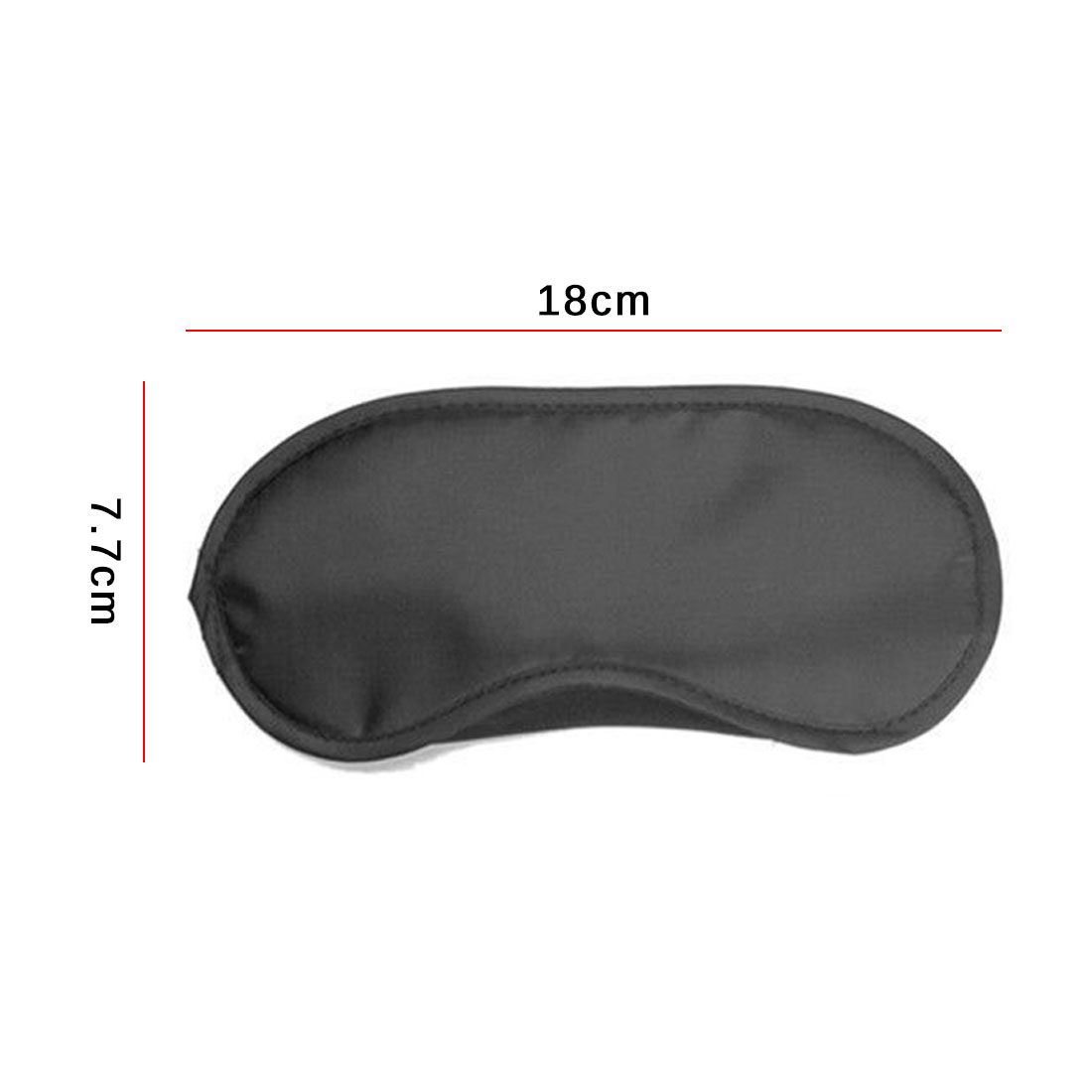 1pcs Pure Silk Sleep Eye Mask Padded Shade Cover Travel Relax Aid Non-woven Sleep eye mask 3
