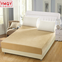 Solid Plush Mattress Covers warm winter mattress protector Home Bed Anti Dust Mite Elastic housse matelas protection pad twin H