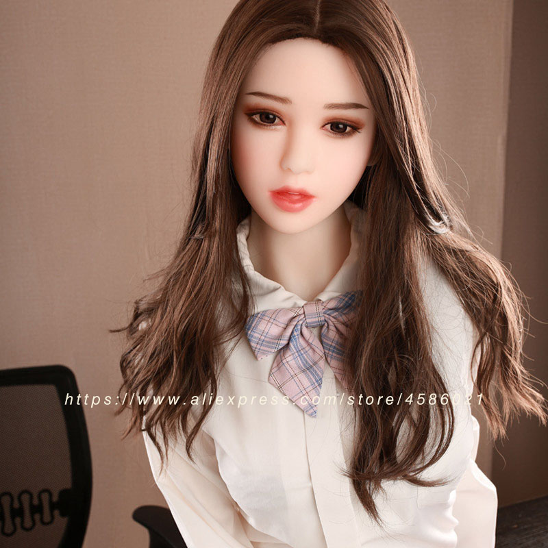 Image 2 - real silicone sex doll for men 155cm top skeleton adult love doll vagina lifelike pussy Japanese realistic big breast sexy doll-in Sex Dolls from Beauty & Health