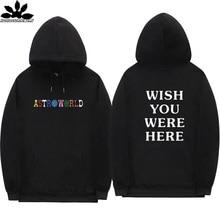 Astroworld Mannen En Vrouwen Hip Hop Streetwear Hoodie Mannen Wensen U Werden Hier 2020 Fashion Letters Herfst En Winter Fleece hoodies