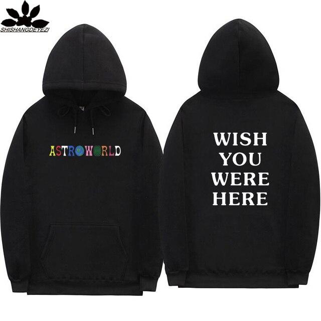 Astroworld גברים ונשים היפ הופ streetwear הסווטשרט גברים הלוואי שהיית כאן 2020 מכתבי אופנה סתיו וחורף צמר נים