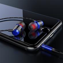 9D Stereo Wired Earphone with Mic Volum Control Super Bass Audio Headset 3.5mm Dynamic Earbuds HiFi Earphones kst x9 metal magnetic earphone super bass headset with mic earbuds hifi stereo 3 5mm subwoofer sound music earphones for xiaomi